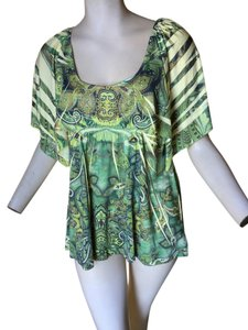 One World Unity Apt 9 Slinky Top Green Multi