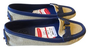 Tory Burch Canvas Loafer Flat Blue/Ivory Flats