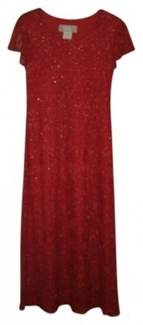 Preload https://img-static.tradesy.com/item/131306/jessica-howard-red-mid-length-night-out-dress-size-petite-8-m-0-0-650-650.jpg