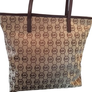 Michael Kors Beige Beach Bag