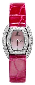 Audemars Piguet Audemars Piguet Ladies Wristwatch 67528BC.ZZ.A066LZ.01 White Gold Diamonds Pink Leather