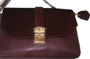 BCBGMAXAZRIA Gemma Gemma Oxblood Bordeaux Shoulder Bag