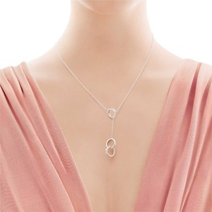 Tiffany & Co. RARE TIFFANY & CO 1837 STERLING SILVER INTERLOCKING CIRCLES LARIAT NECKLACE 112