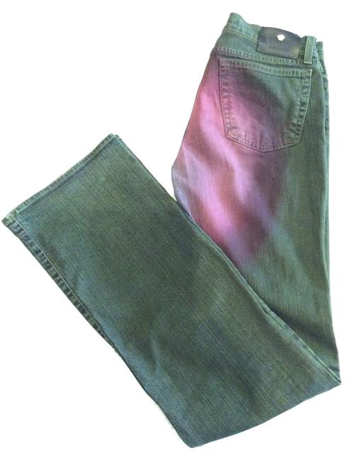 Item - Dark Blue with Pink Rinse Made In Italy Straight Leg Jeans Size 27 (4, S)