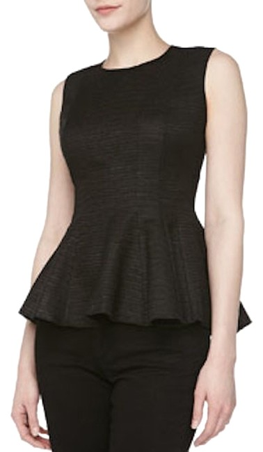Preload https://item4.tradesy.com/images/halston-black-peplum-blouse-size-6-s-1313108-0-0.jpg?width=400&height=650