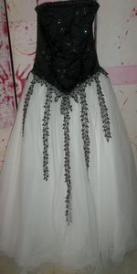 Mary's Bridal Black White Dress