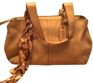 Coach Satchel in Natural Beige