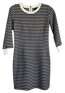 Theory short dress Black/White Stripe on Tradesy
