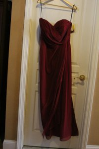 Dessy Burgundy Collection 2956 Sexy Bridesmaid/Mob Dress Size 16 (XL, Plus 0x)