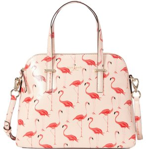 Kate Spade Maise Flamingos Satchel in Pink