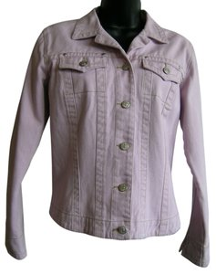 CAbi Denim Silver Hardwear Light Lavender Womens Jean Jacket