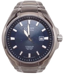 Citizen Citizen Eco-Drive Mens Sapphire Titanium Dress Watch BM7170-53L