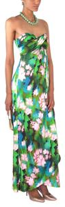 Nicole Miller Green Maxi Dress