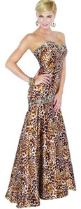Mori Lee Prom Leopard Long Dress
