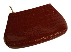 Nordstrom Nordstrom Red Leather Cosmetic Bag