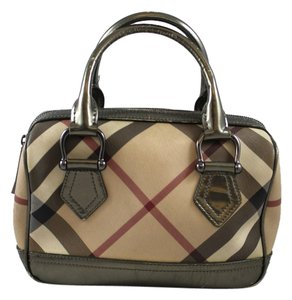 Burberry Plaid Satchel in Smoked Nova Check