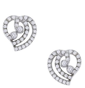 Tiffany & Co. Tiffany & Co. Platinum Diamond Heart Earrings