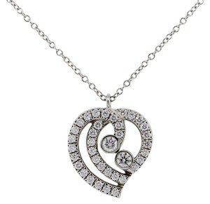 Tiffany & Co. Tiffany & Co.Platinum Diamond Heart Pendant Necklace