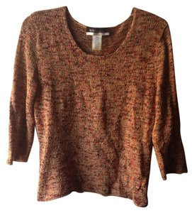 Nine & Co. Loose Knit Loose-knit Satin Shiny Hippie Sweater