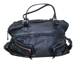 Gucci Leather Gold Hardware Satchel in black