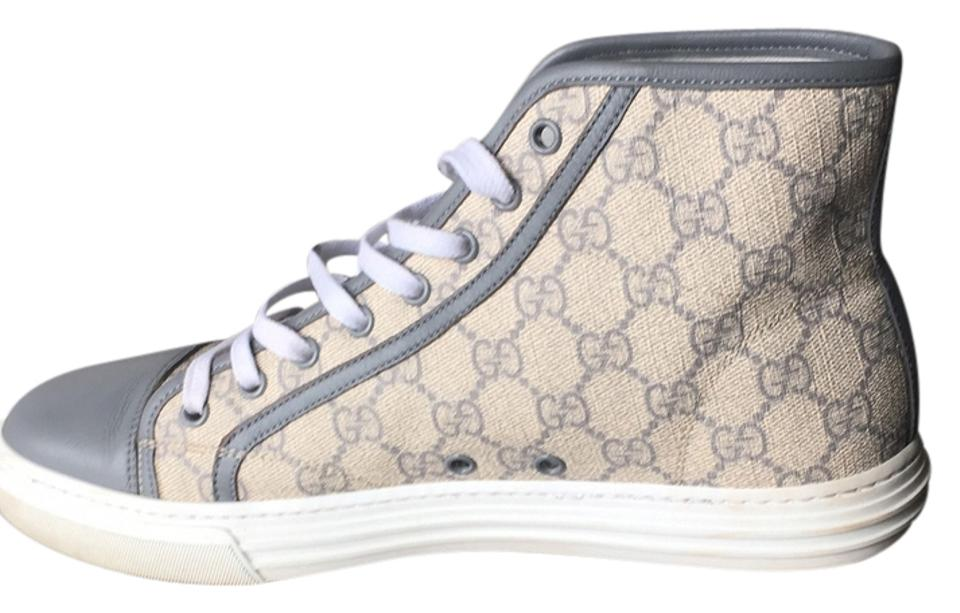4a72a037285 Gucci Supreme Canvas High Tops Grigio Gray and beige Athletic Image 0 ...