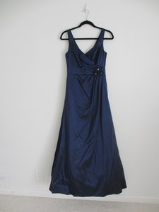 David's Bridal Navy F23755 Dress