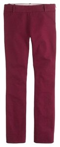 J.Crew City Fit Stretch Trouser Pants Burgundy, Wine, Dark Red