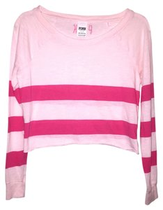 PINK Victoria's Secret Vs T Shirt Pink Striped