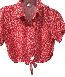 American Apparel Button Down Shirt Coral
