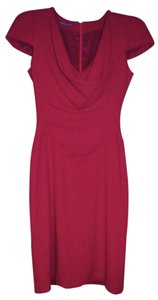 Alexander McQueen short dress pink Cap Sleeve Draping Neckline on Tradesy