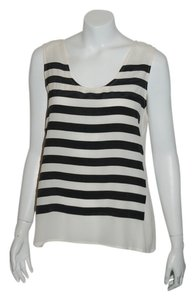 Marc by Marc Jacobs Top ivory/black stripes