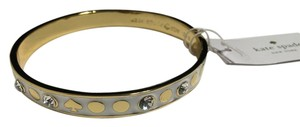 Kate Spade Kate Spade New York Spot The Spade White Bangle Bracelet