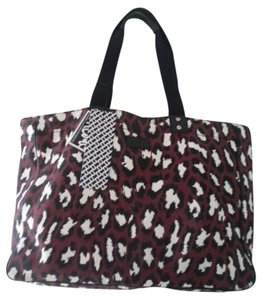 Diane von Furstenberg Dvf Tote in Spotted Cat Red