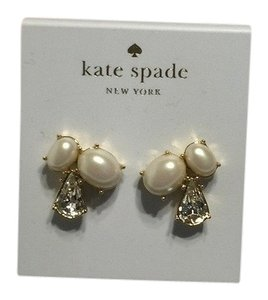 Kate Spade Kate Spade New York Cream Pearl Cluster Stud Earrings with Bagity Gift Box