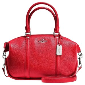 Coach Leather Bennett 37154 Satchel in Red
