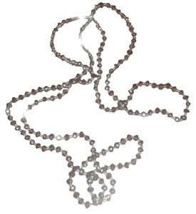 Anthropologie Long Silver Rope Necklace