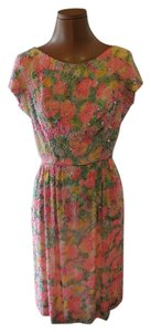British Crown Colony Beaded Vintage Floral Dress