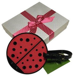 Kate Spade Kate Spade New York Turn Over A New Leaf Ladybug Luggage Tag WLRU2458 with Bagity Gift Box