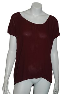 Ella Moss Lace Top maroon Black
