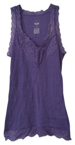 Mossimo Supply Co. Ribbing Yoga Cami Top Purple with Lace