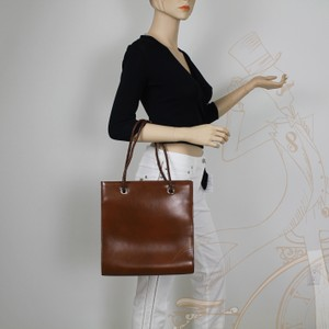 Cartier Leather Rectangular Panthere Tote in Brown