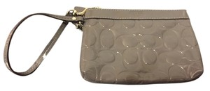 Coach Wear With Anything Patent Wristlet in Grey