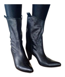 L'Autre Chose Western Ankle Western Size 8 Black Pointy Toe Boots