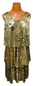 Other 70s 70s Style Metallic Leopard Print Leopard Print Dress