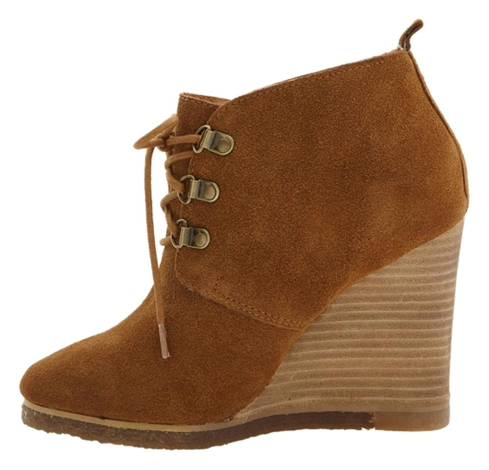 b2178894ed1 Steve Madden Brown Suede Wedges Boots Booties Size US 8.5 - Tradesy