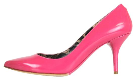 Dolce&Gabbana Dolce And Gabbana D&g Patent Leather Leather Leopard Insole Close Toe Fine Point Pink Pumps