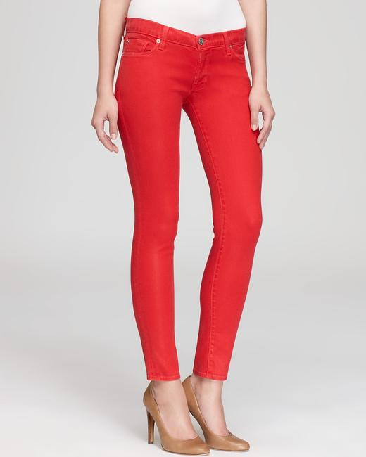Item - Red Coated Krista Super Skinny Jeans Size 28 (4, S)