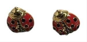 Kate Spade Kate Spade New York Stud Earrings Garden Party Ladybug with Bagity Gift Box