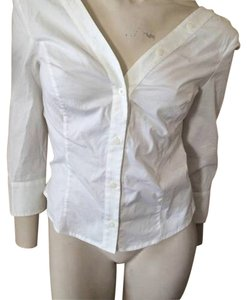 Frankie Morello Button Down Shirt White