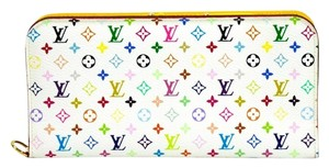 Louis Vuitton Authentic Louis Vuitton Multicolore Monogram White Insolite Wallet w/ Citron Interior